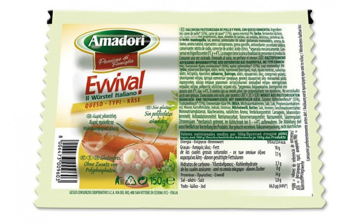 Evviva with cheese 150gr